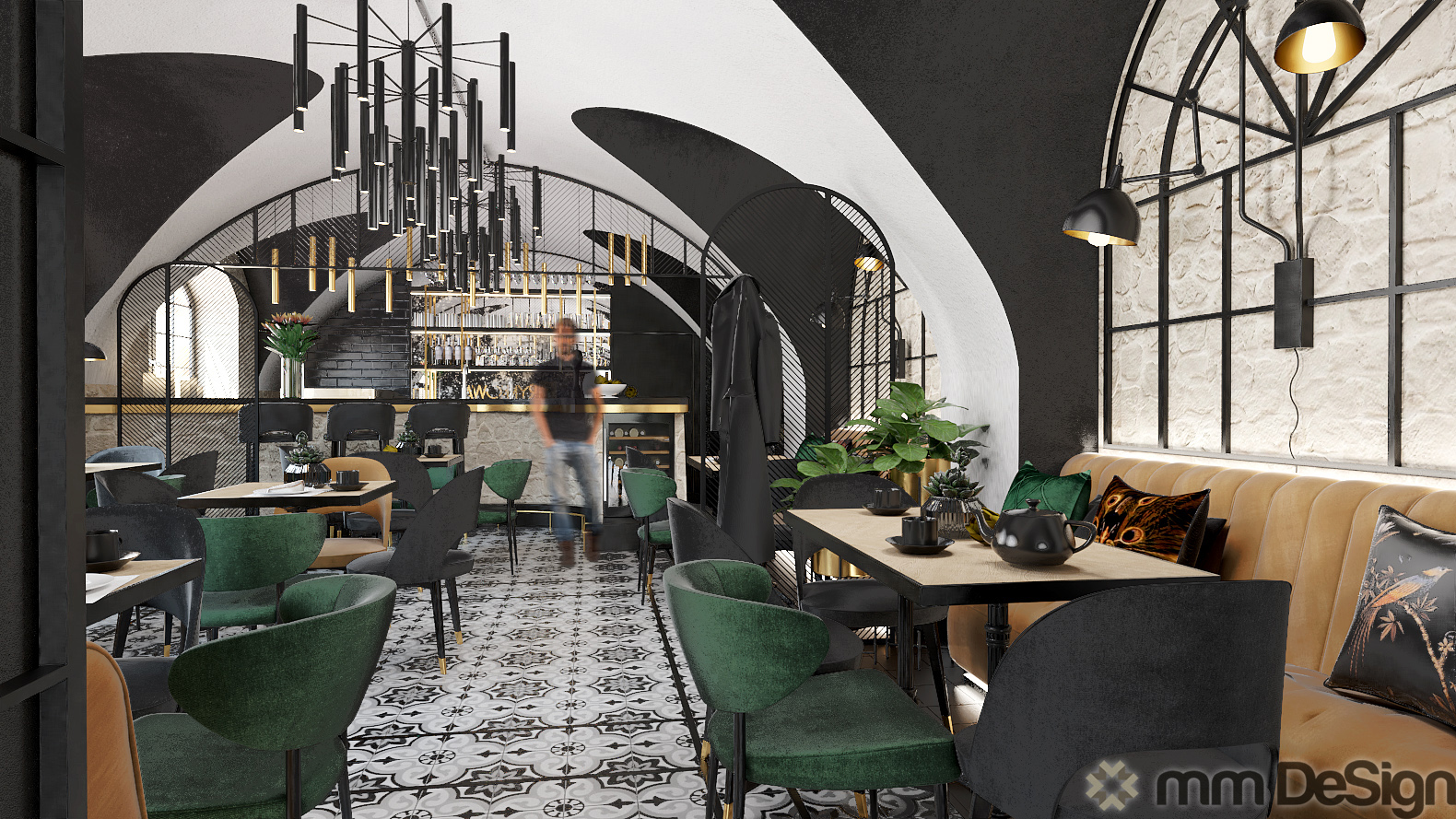 mm design projektowanie wnętrz restauracji 1