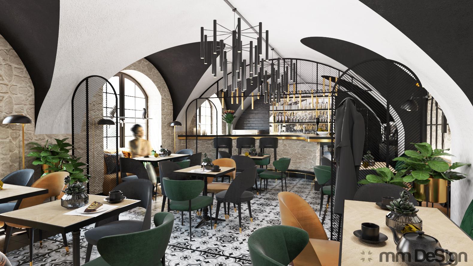mm design projektowanie wnętrz restauracji 2